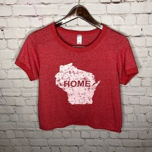Wisconsin State Home Boxy Crop Top L